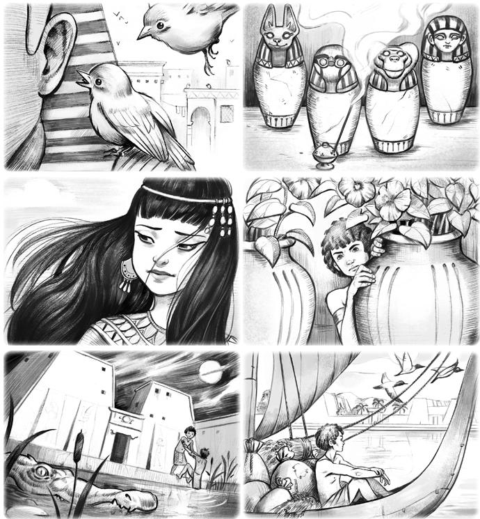 Magicien du Pharaon Illustrations
