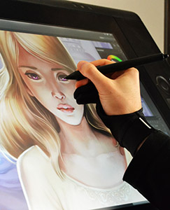 Illustration sur Cintiq